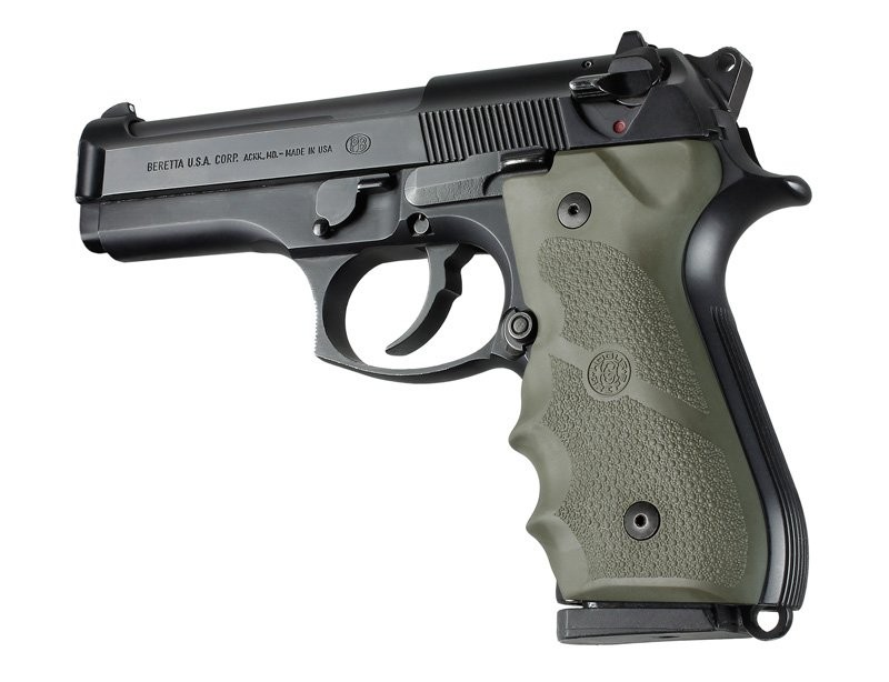 Beretta 92/96 series grip with Finger Grooves OD Green 92001
