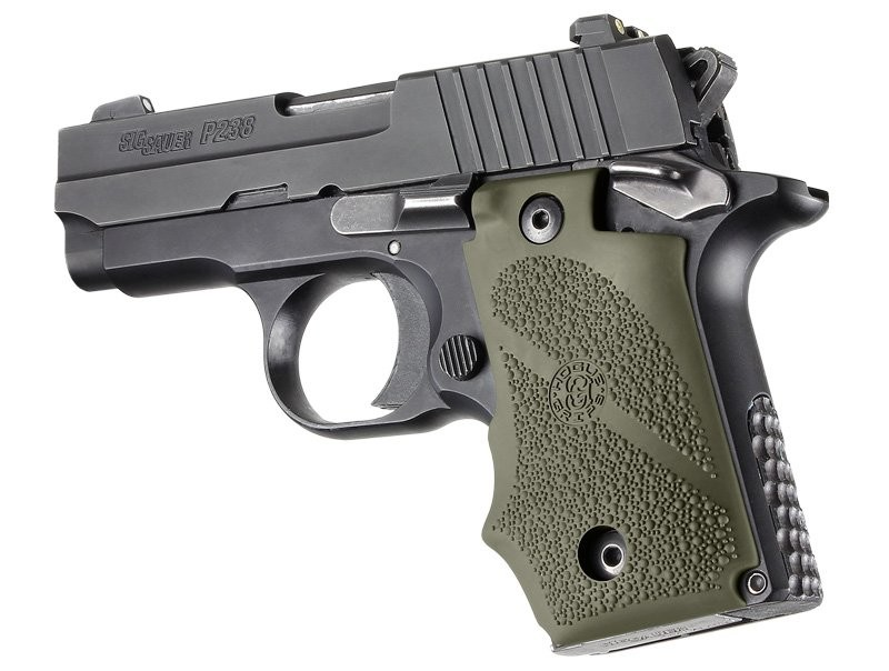 Sig Sauer P238 Rubber Grip with Finger Grooves OD Green 38001