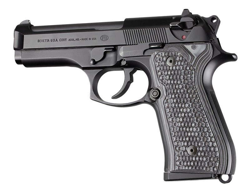 Beretta 92FS Piranha Grip G10 - G-Mascus Black/Gray 92137