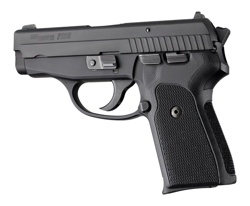 Sig Sauer P239 DA/SA Hogue Extreme black checkered G-10 31179