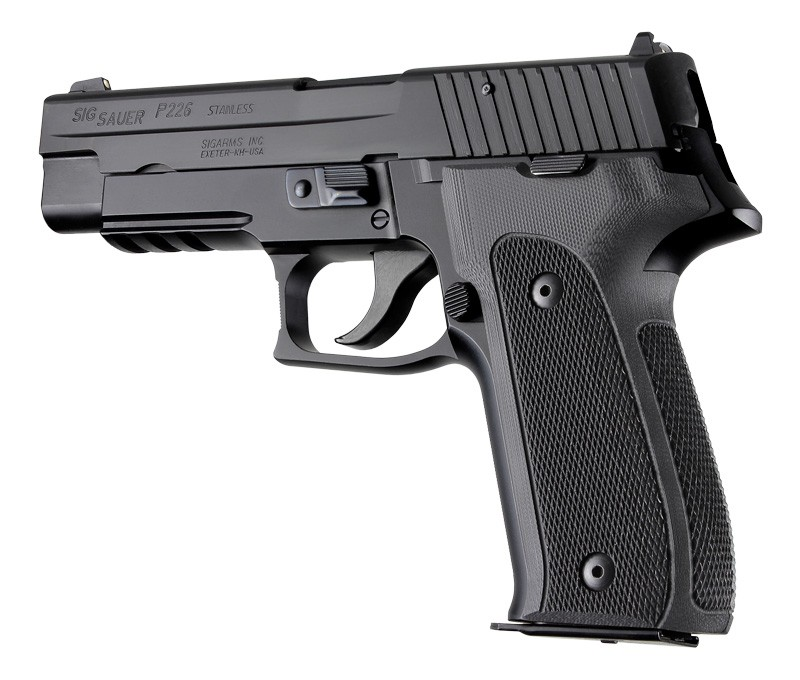 SIG Sauer P226 DAK Checkered G-10 - Solid Black 26159