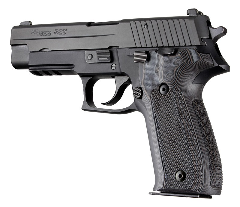 Sig Sauer P226 DA/SA Checkered G-10 - G -Mascus 26177-Black/Gray