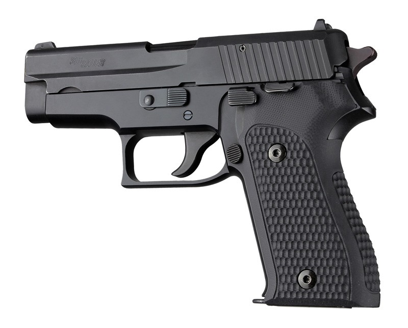 Hogue Sig Sauer P225 or P6 Piranha Grip G-10 - Solid Black 27139