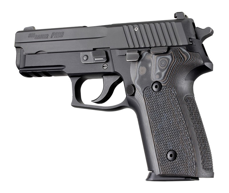 Sig P228, P229 & M11-A1 Checkered G-10 G-Mascus 28177-Black/Gray