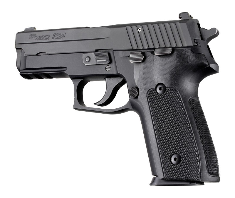 Sig Sauer P228, P229 & M11-A1 DA/SA black checkered G-10 28179