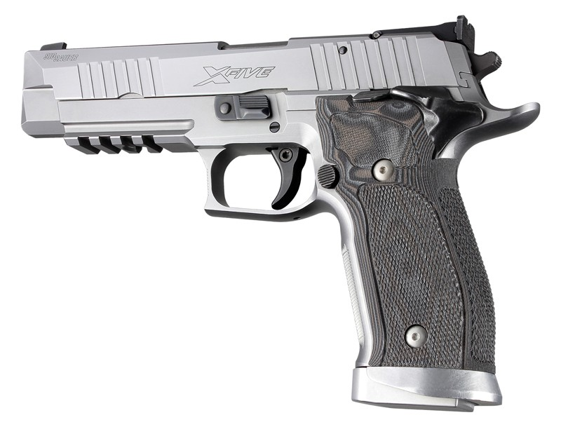 Sig Sauer P226 SAO X5 X6 Checkered G10-G-Mascus Black/Gray 33177
