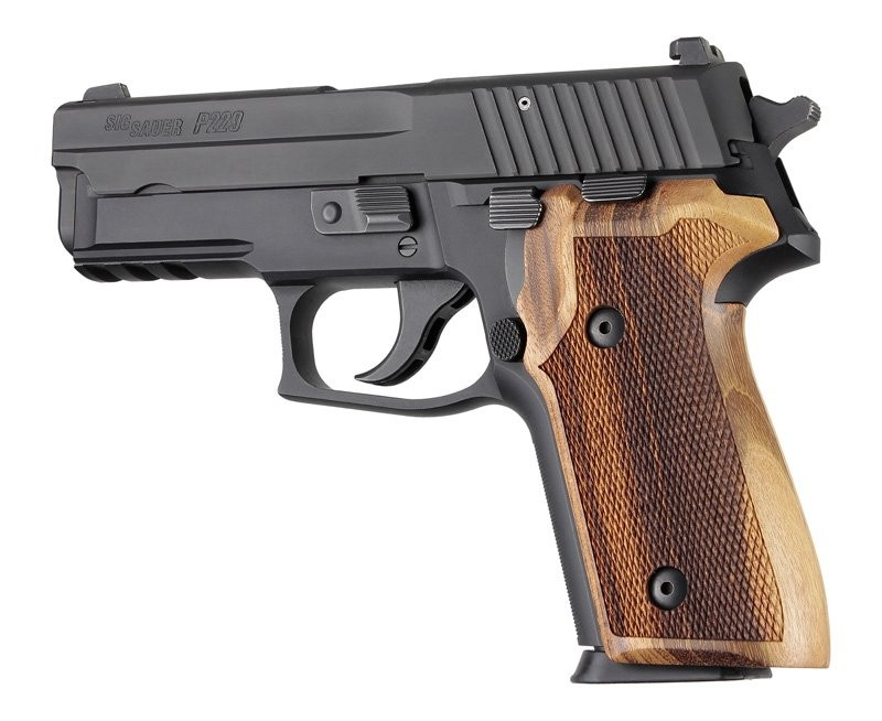 Sig Sauer P228, P229 & M11-A1 Goncalo checkered wood grip 28211