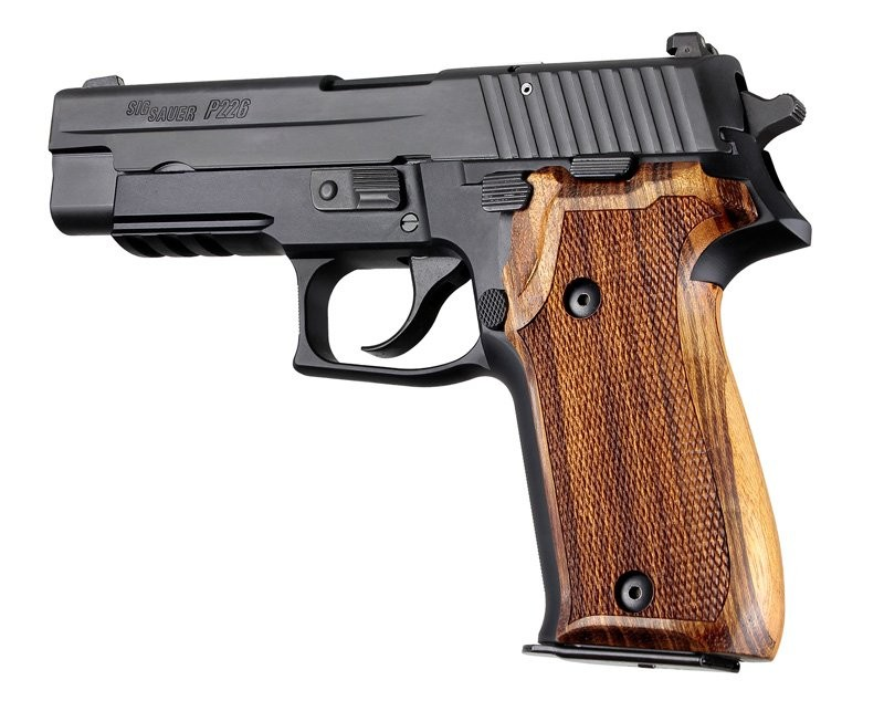 Hogue Sig Sauer P226 Goncalo checkered wood grip 26211