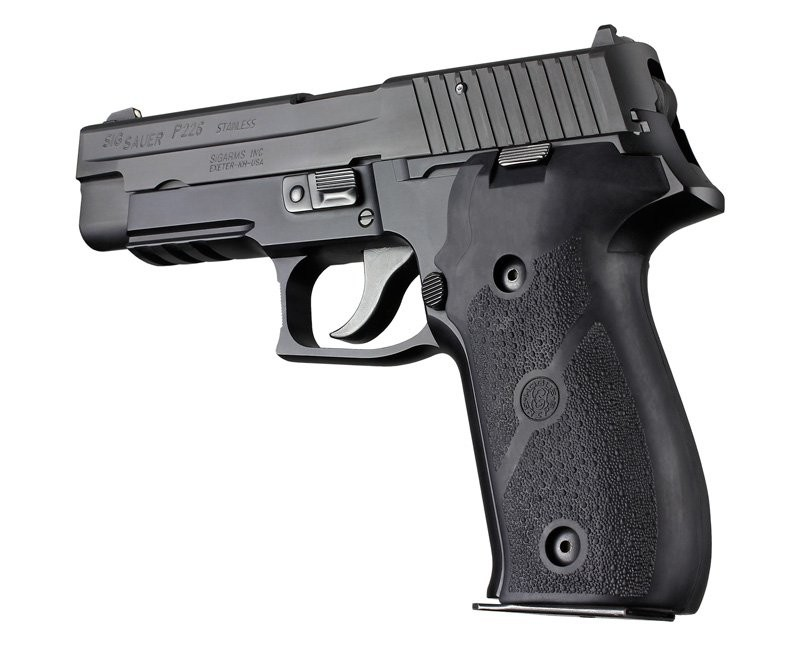 Hogue Sig P226 Rubber Panel Grip Black 26010