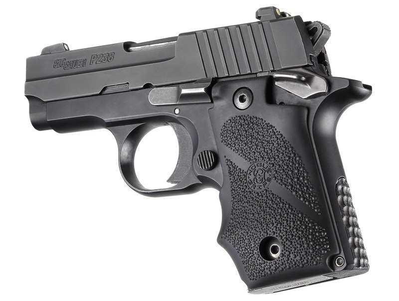SIG Sauer P238 Ambi Safety Rubber Grip Finger Groove Black 38080