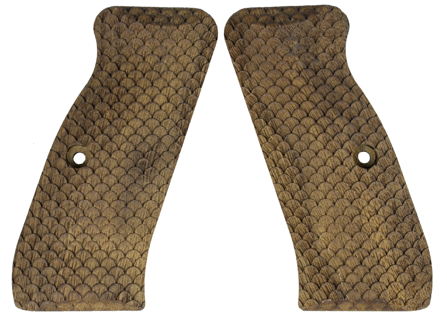 CZ 75B, CZ 85 FISH SCALE PATTERN WALNUT GRIP 40004