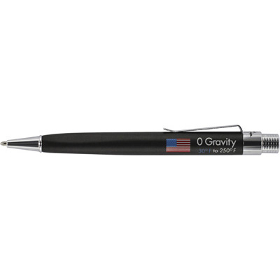 Fisher Space Pen Black Rubber Finish Zero Gravity Space Pen ZG