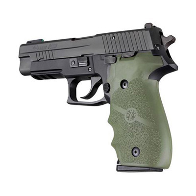 SIG SAUER P226 Rubber Finger Groove Grip OD Green 26001