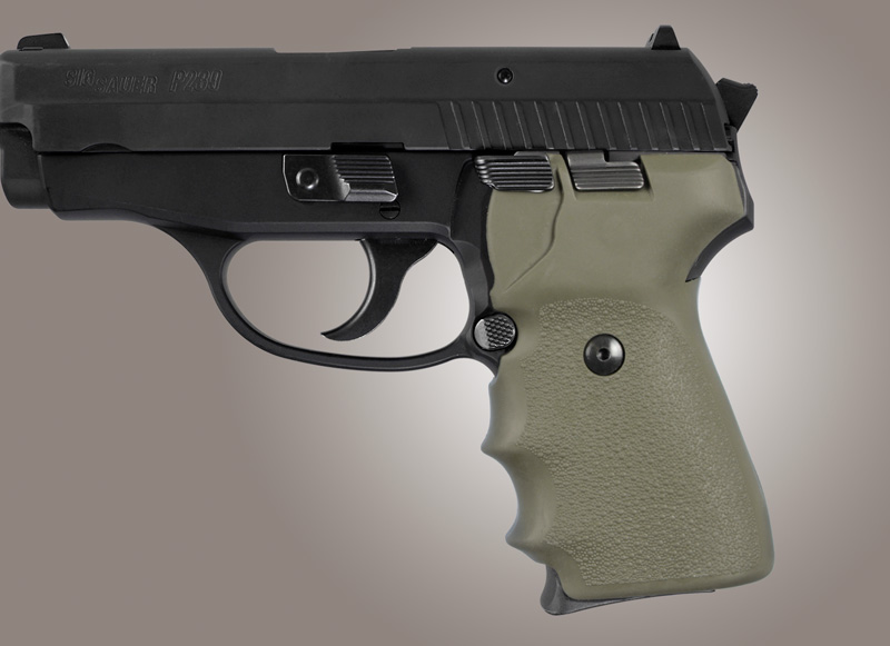 Sig Sauer P239 Rubber Finger Groove Grip OD Green 31001