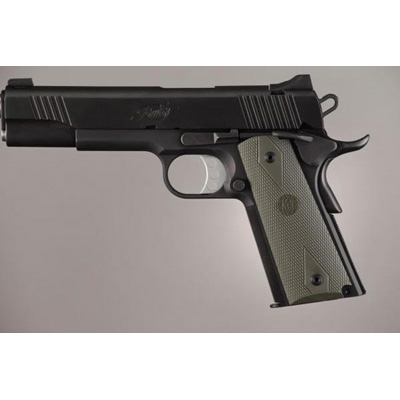 1911 Government Rubber Grip Panels Checkered OD Green 45011