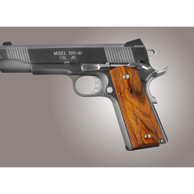 Hogue 1911 Govt. Model Coco Bolo Ambi-Cut Checkered 45821