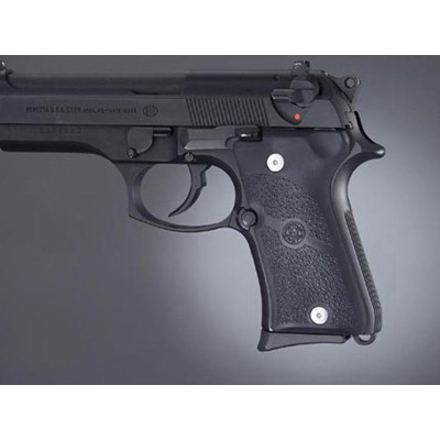 Beretta 92 Compact Auto Rubber grip Panels Black 93010