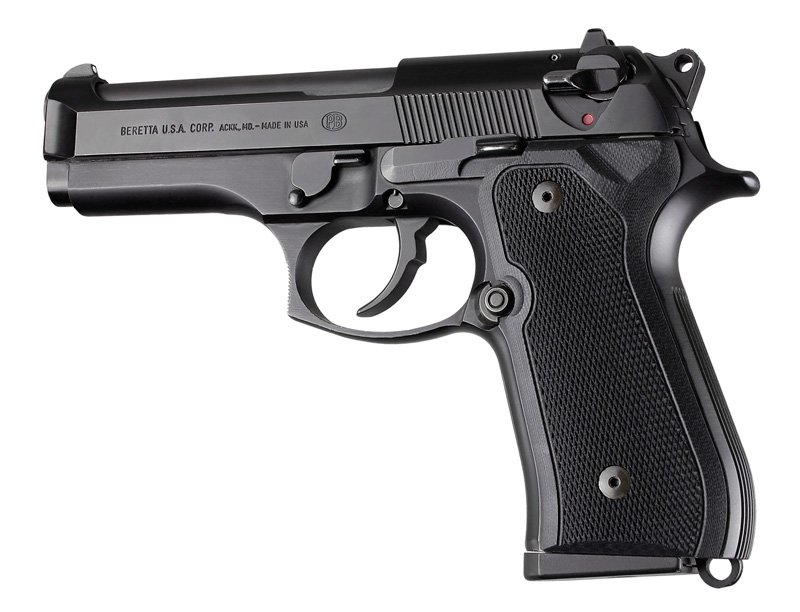 Beretta 92FS, 96 & M9 black checkered G-10 92179