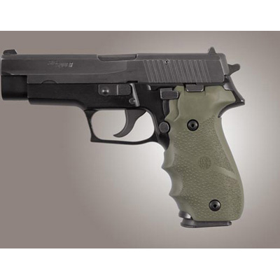 Sig P228, P229 & M11-A1 Rubber Finger Groove Grip OD Green 28001