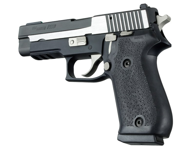 Sig P220 Black Rubber Panel Grip 20010
