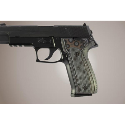 Sig P226 DAK Checkered G-10 - G-Mascus 26157 BLACK/GRAY