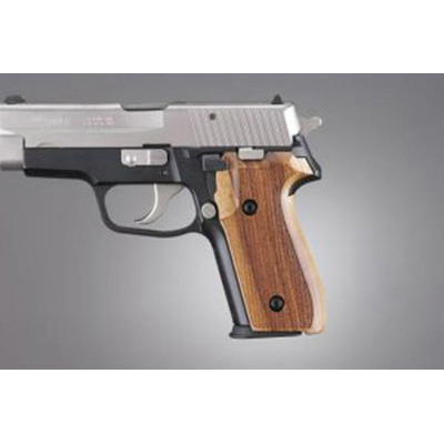 Sig Sauer P228, P229 & M11-A1 Goncalo checkered wood grips 28211