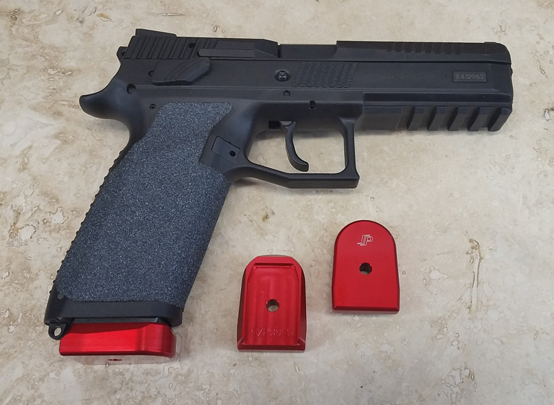 SP EZ CZ P09/P07 & P-10 base anodized aluminum SPCZEZP09-R RED