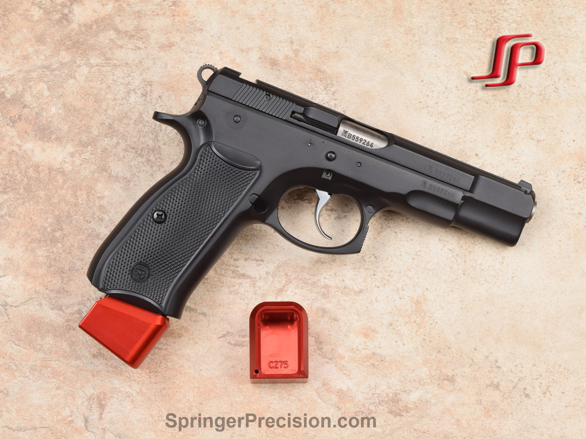 Springer Precision CZ75 EZ 140mm base pads - Fits Mec-Gar 17 RD