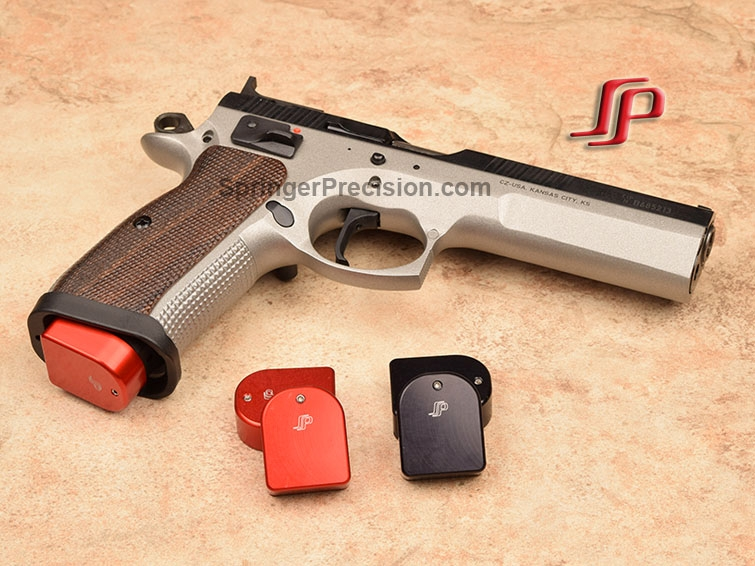 Springer Precision EZ CZ 9mm/40 base pads-Tactical Sport RED