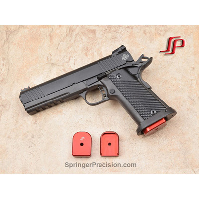 Springer Precision Rock Island Armory 9mm EZ +.25 base pad (RED)