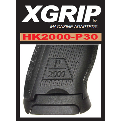 XGrip HK P2000-P30 Magazine adapter 9mm, .40 S&W and .357 Sig
