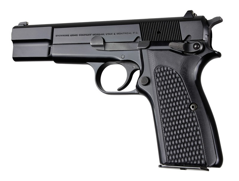 Browning Hi-Power Piranha Grip G-10 - Solid Black 09139