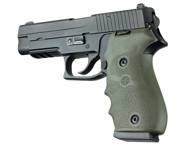 Sig Sauer P220 American Rubber Finger Groove OD Green 20001