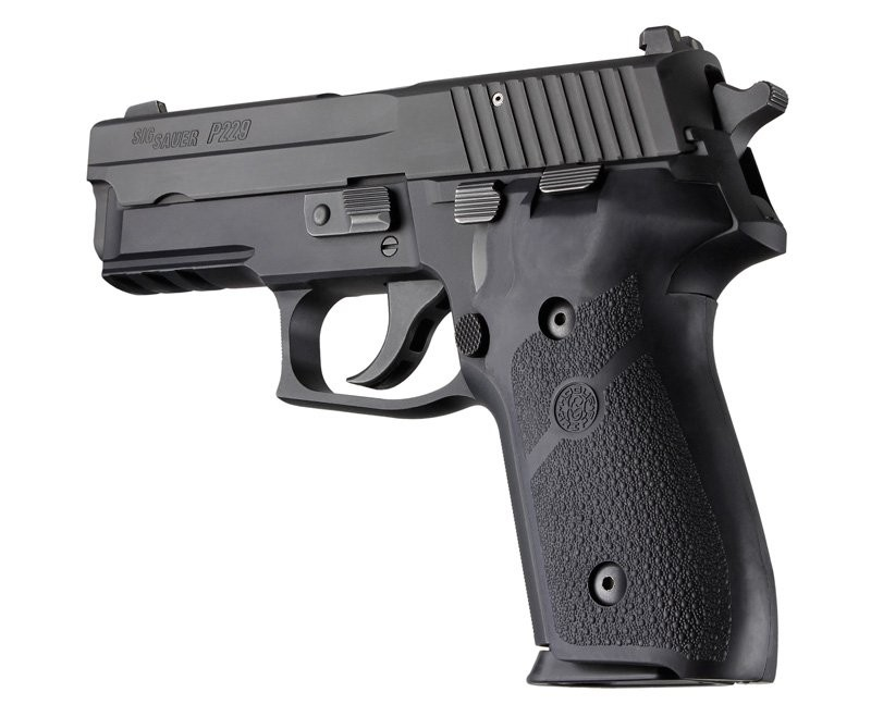 Sig Sauer P228, P229 and M11-A1 Rubber Panel Grip Black 28010
