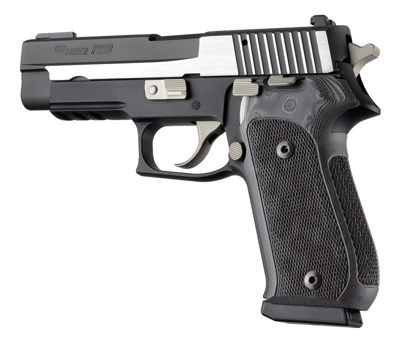 Sig Sauer P220 DA/SA Checkered G-10 - G-Mascus 20177 Black/Gray