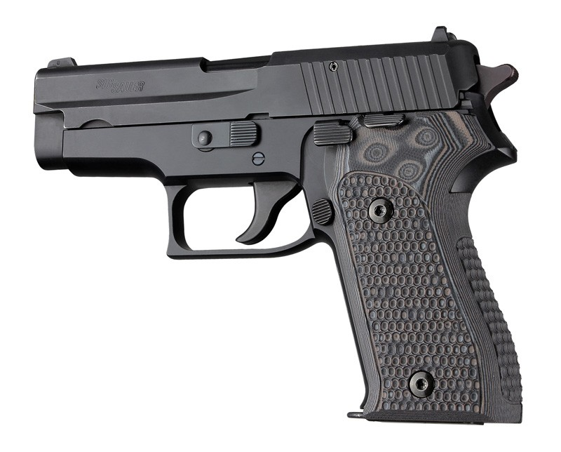 SIG P225 or P6 Piranha Grip G10 - 27137 Black/Gray