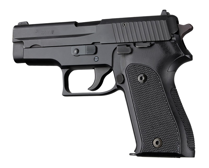 Hogue Sig Sauer P225, P6 Black Checkered G-10 Grip 27179