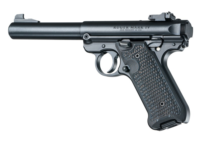 Ruger MK IV Piranha G10-G-Mascus Black/Gray Hogue Grip 79137