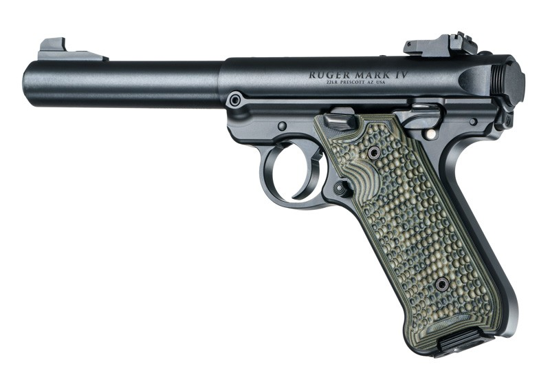 Ruger MK IV Piranha Grip G10 - G-Mascus Green Hogue Grip 79138