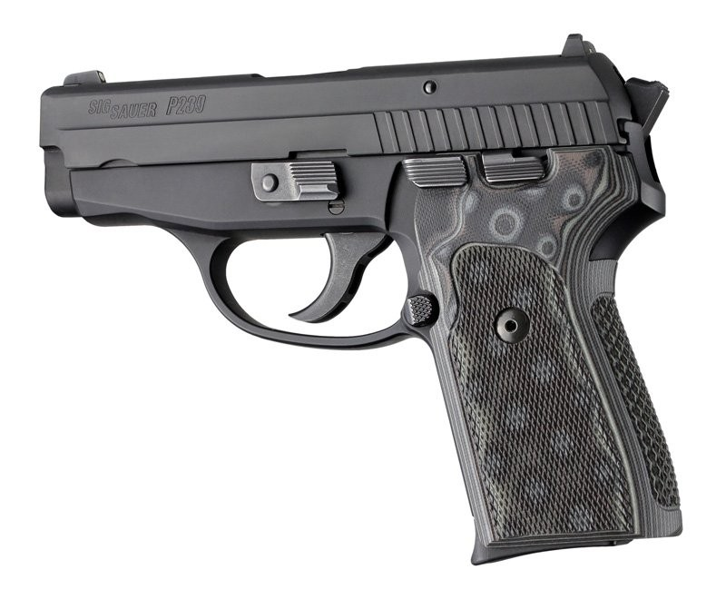 SIG Sauer P239 DA/SA Checkered G-10 - G-Mascus 31177 Black/Gray