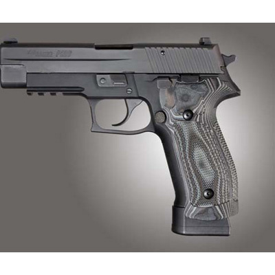 SIG Sauer P226 DA/SA Magrip Checkered G-Mascus 23177 Black/Gray